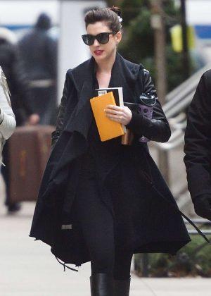 Anne Hathaway Out in Manhattan