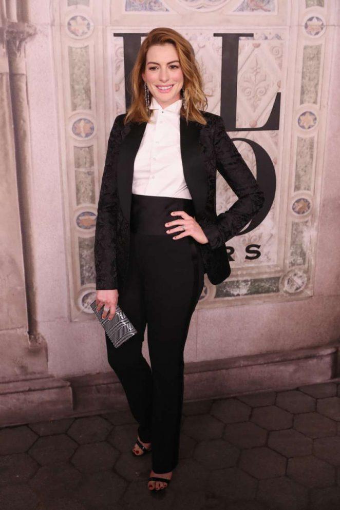 Anne Hathaway - Ralph Lauren 50th Anniversary Party in New York