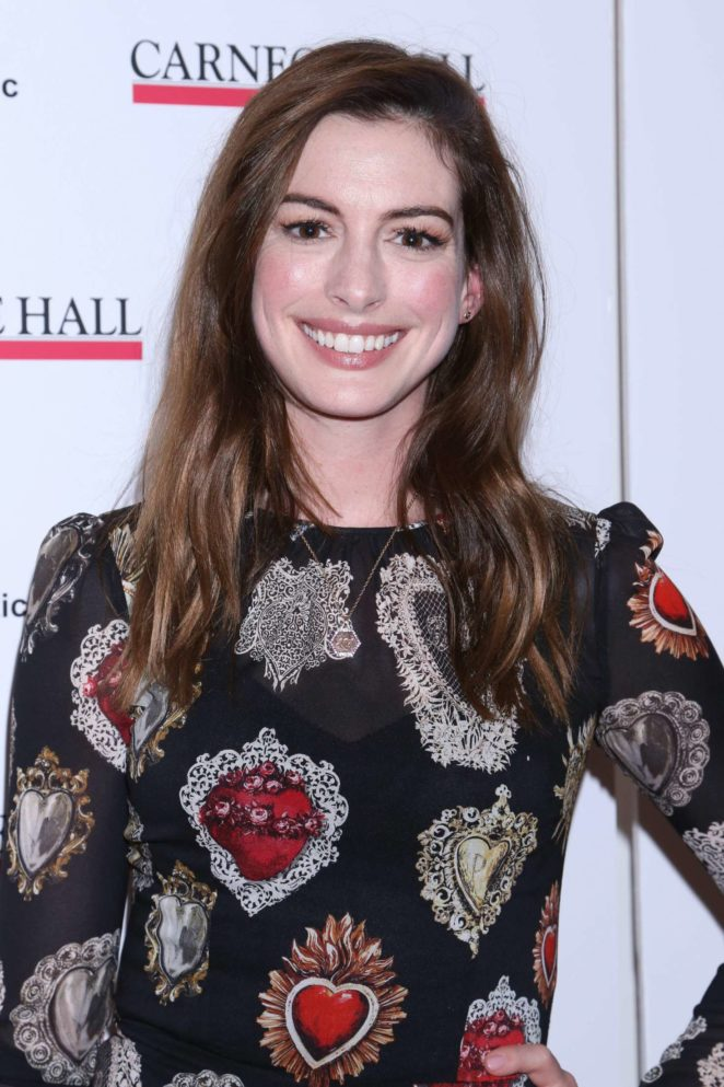 Anne Hathaway - The Children's Monologues Benefit in NY