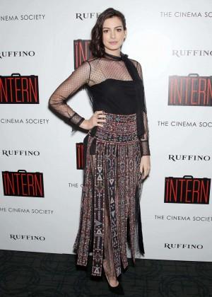 Anne Hathaway - 'The Intern' Screening in NYC