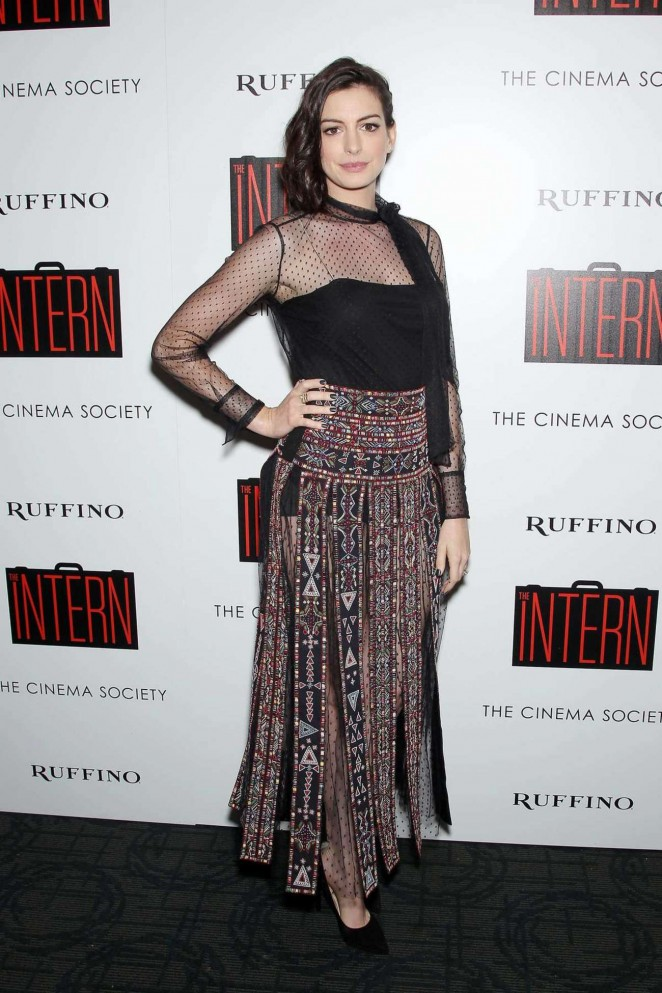 Anne Hathaway – 'The Intern' Screening in NYC