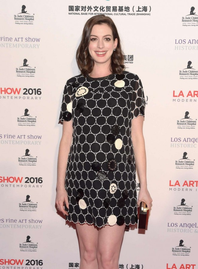 Anne Hathaway – The LA Art Show and The Los Angeles Fine Art Show 2016 in Los Angeles
