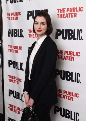 Anne Hathaway - The Public Theater's 'Josephine And I' Opening Night in NYC