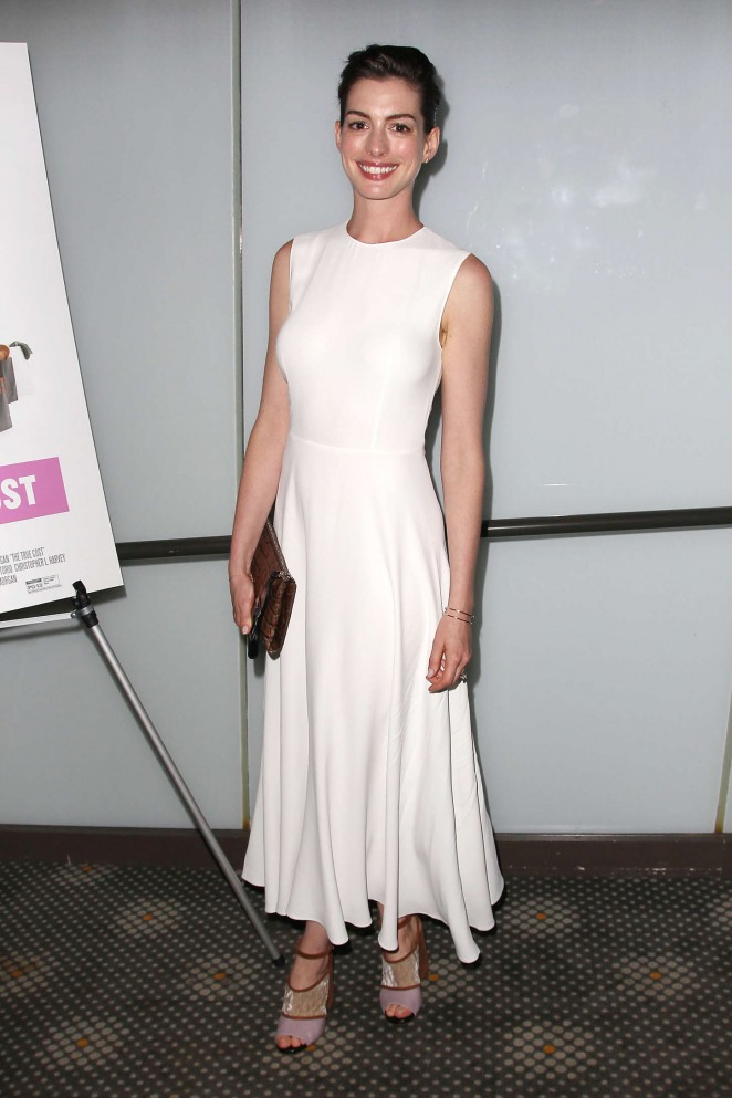 Anne Hathaway: The True Cost NY Screening -03