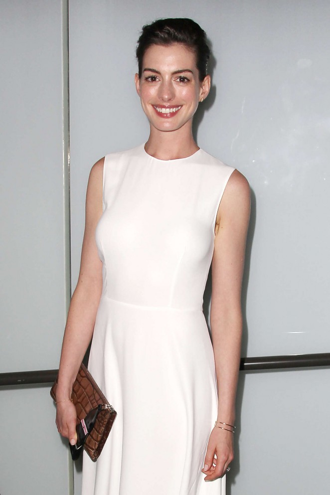 Anne Hathaway - 'The True Cost' Private Screening in NYC
