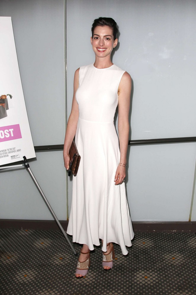Anne Hathaway: The True Cost NY Screening -09