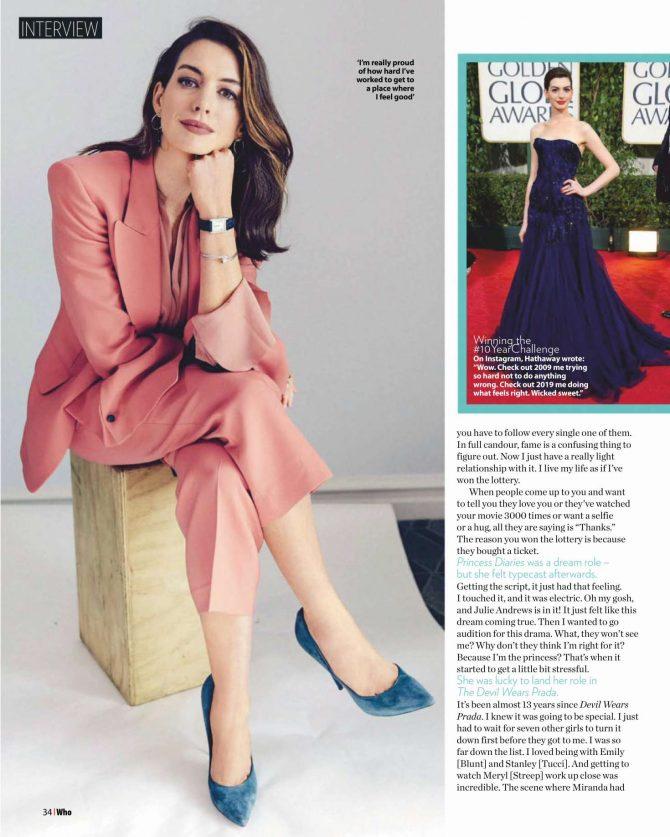 Anne Hathaway - Who Magazine (February 2019)