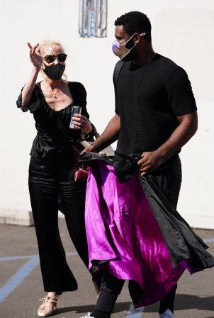 Anne Heche - In all black as she is seen at the Dancing with the Stars studio