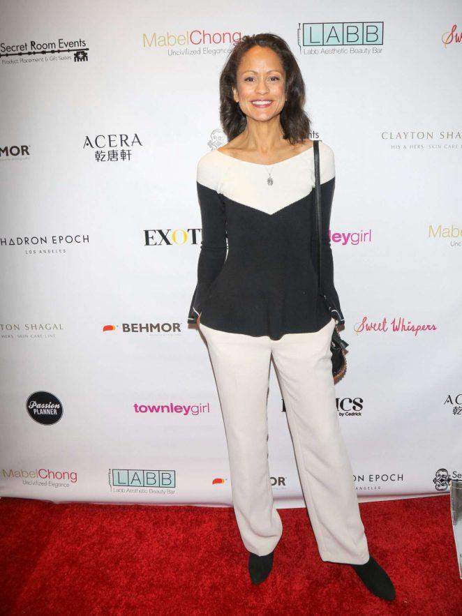 Anne-Marie Johnson - Secret Room Golden Globe Gifting Suite in LA