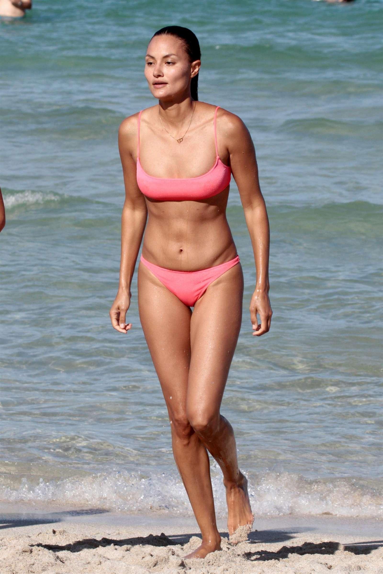 8427202ef5 Anne Marie Kortright in Pink Bikini 2017 -03 – GotCeleb