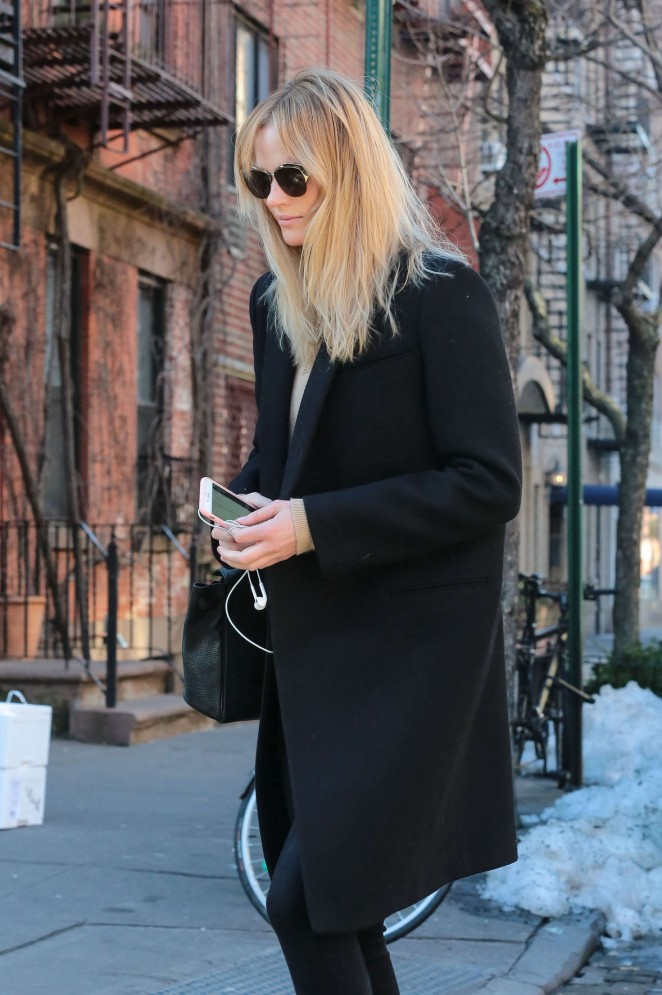 Anne Vyalitsyna out in New York City
