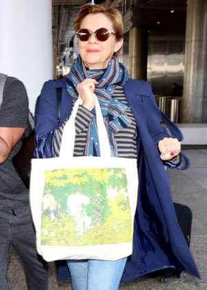 Annette Bening at LAX Airport in Los Angeles