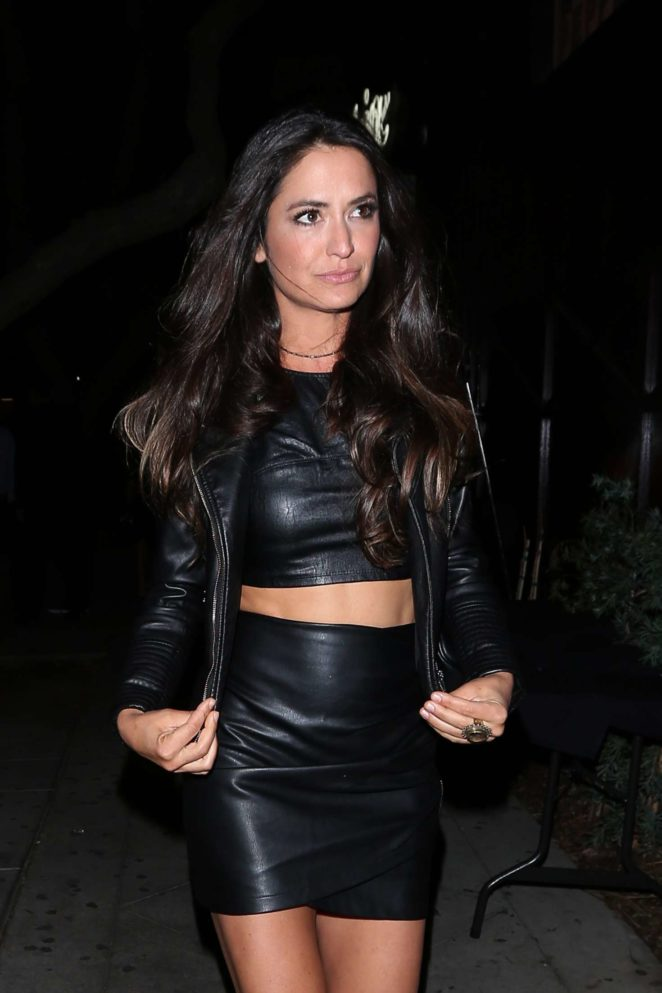 Annie Bosko in Leather at Peppermint club in West Hollywood