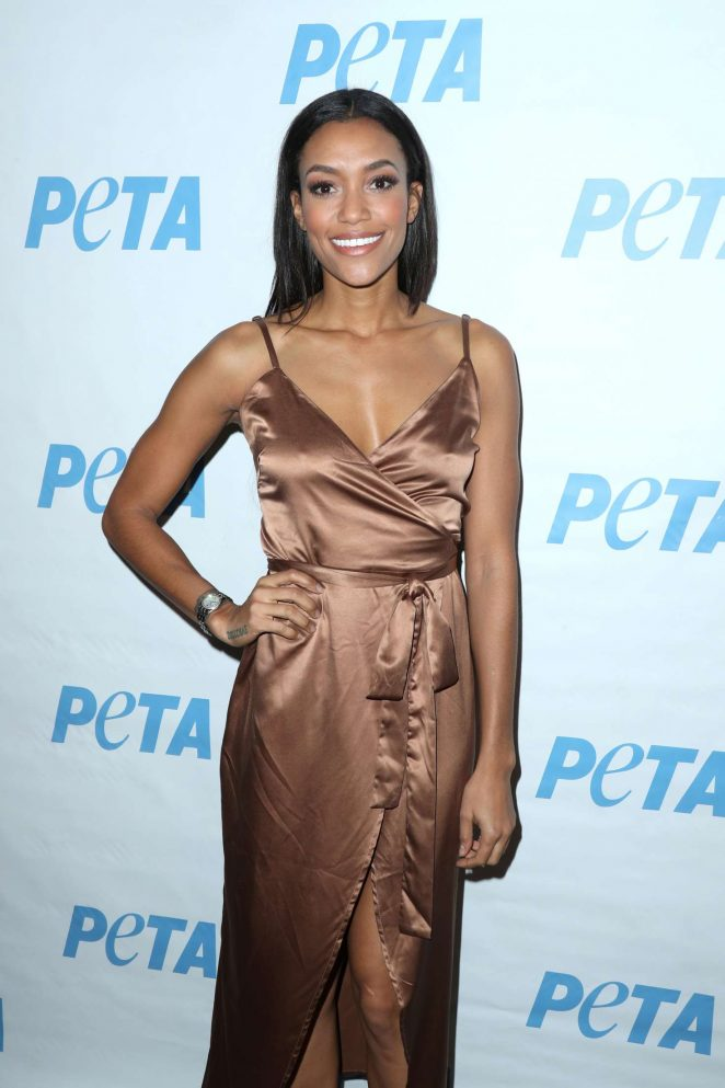 Annie Ilonzeh - Launch Opening Night of PETA's 'Naked Ambition' Exhibit in LA