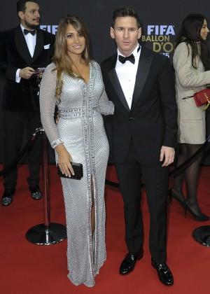 Antonella Roccuzzo - FIFA Ballon dOr Gala 2015 -09