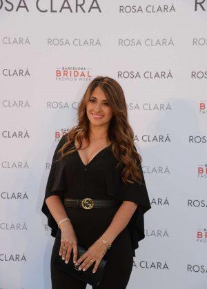 Antonella Roccuzzo - Rosa Clara Presented her wedding collection 2019 in Barcelona