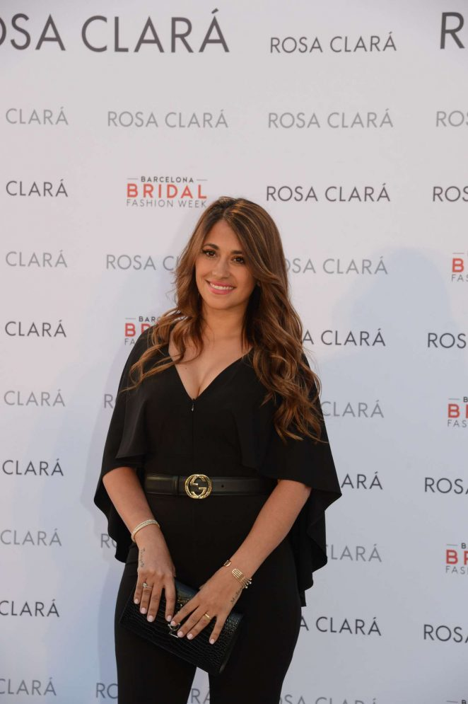 Antonella Roccuzzo - Rosa Clara Presented her wedding collection 2019 in Barcelona