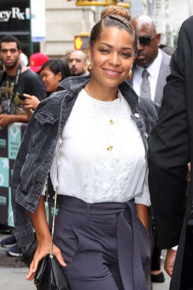 Antonia Thomas - Arrives at AOL Build Speaker Series in New York