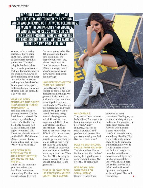 Anushka Sharma - Filmfare Magazine 2019-03 | GotCeleb