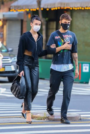 Anwar Hadid and Dua Lipa - Out and about in New York City
