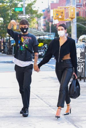 Anwar Hadid and Dua Lipa - Seen while out and about in New York
