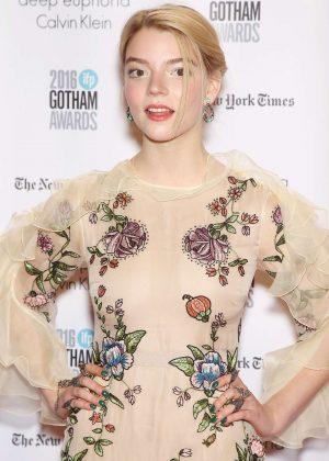 Anya Taylor-Joy - 2016 Gotham Independent Film Awards in New York