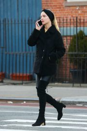 Anya Taylor-Joy - All in black spotted while stroll in NYC