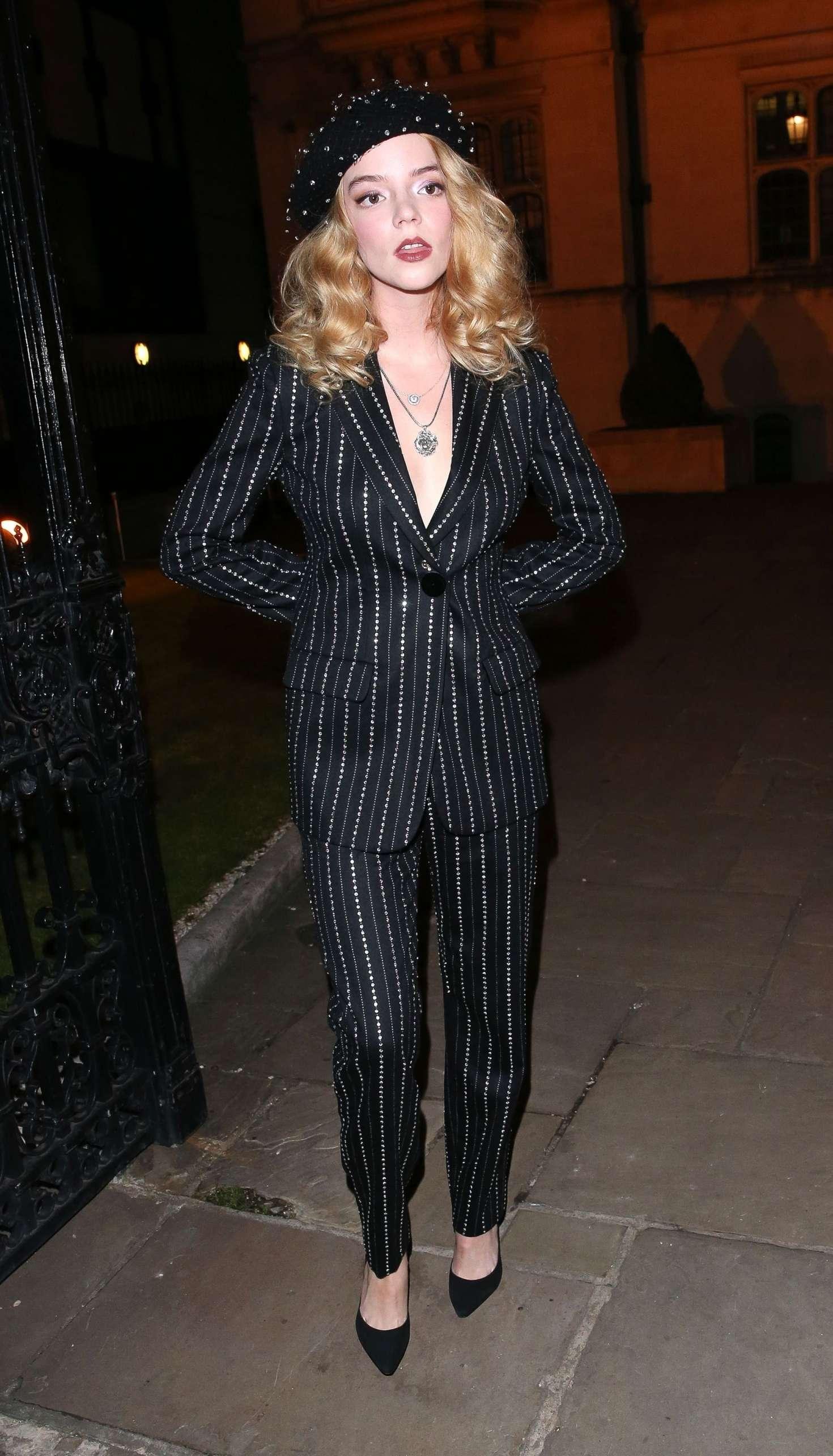 Anya Taylor-Joy - Arrives at '100 Years Season 2' Campaign in London