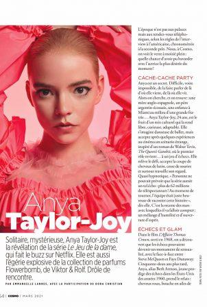 Anya Taylor-Joy - Cosmopolitan France2021