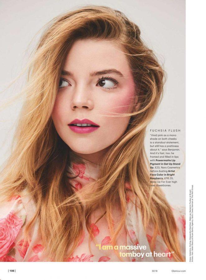 Anya Taylor-Joy - Glamour UK Magazine (March 2018)