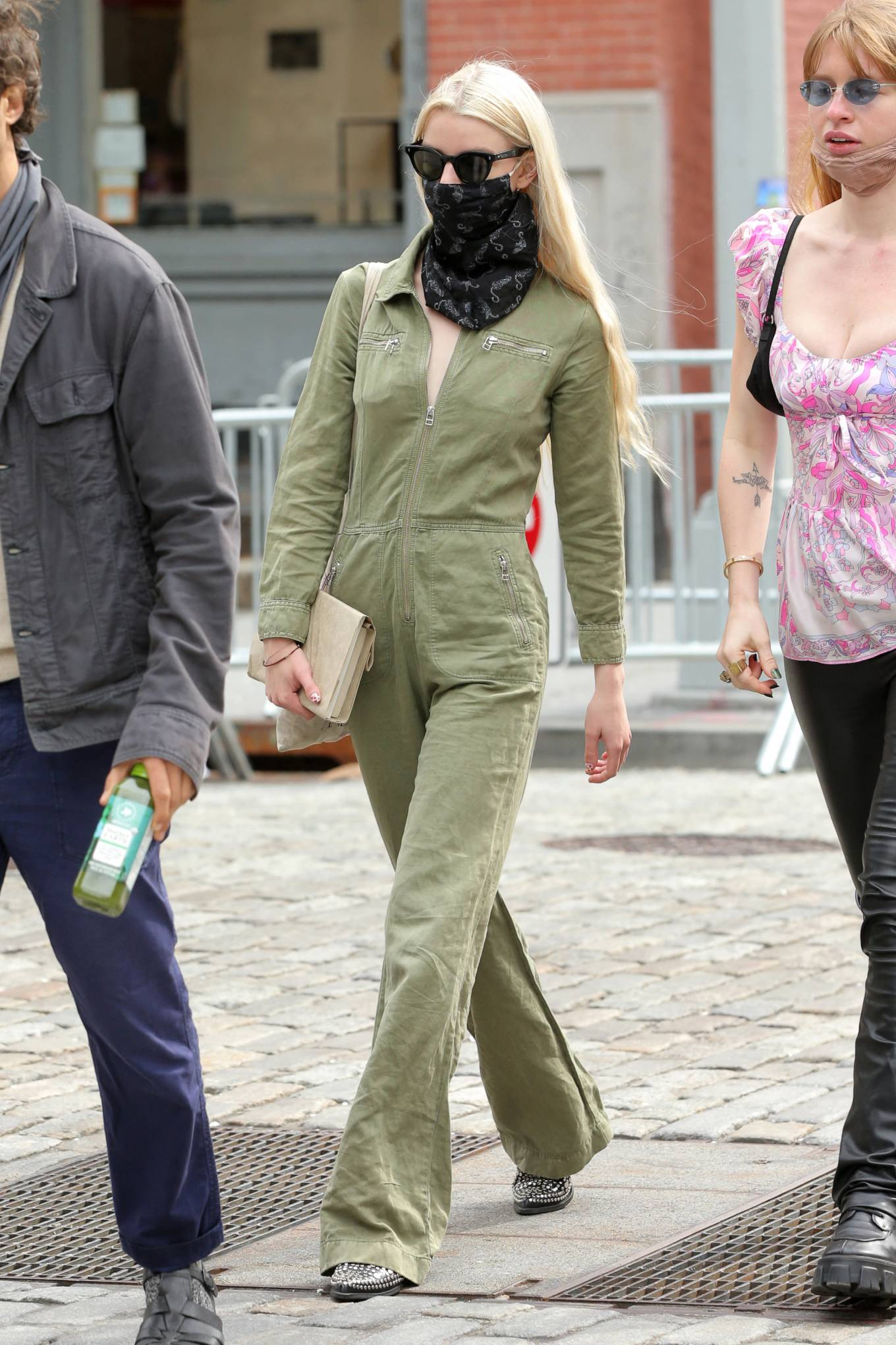 Anya Taylo 2021 : Anya Taylor-Joy – in a green jumpsuit in Soho in New York-01