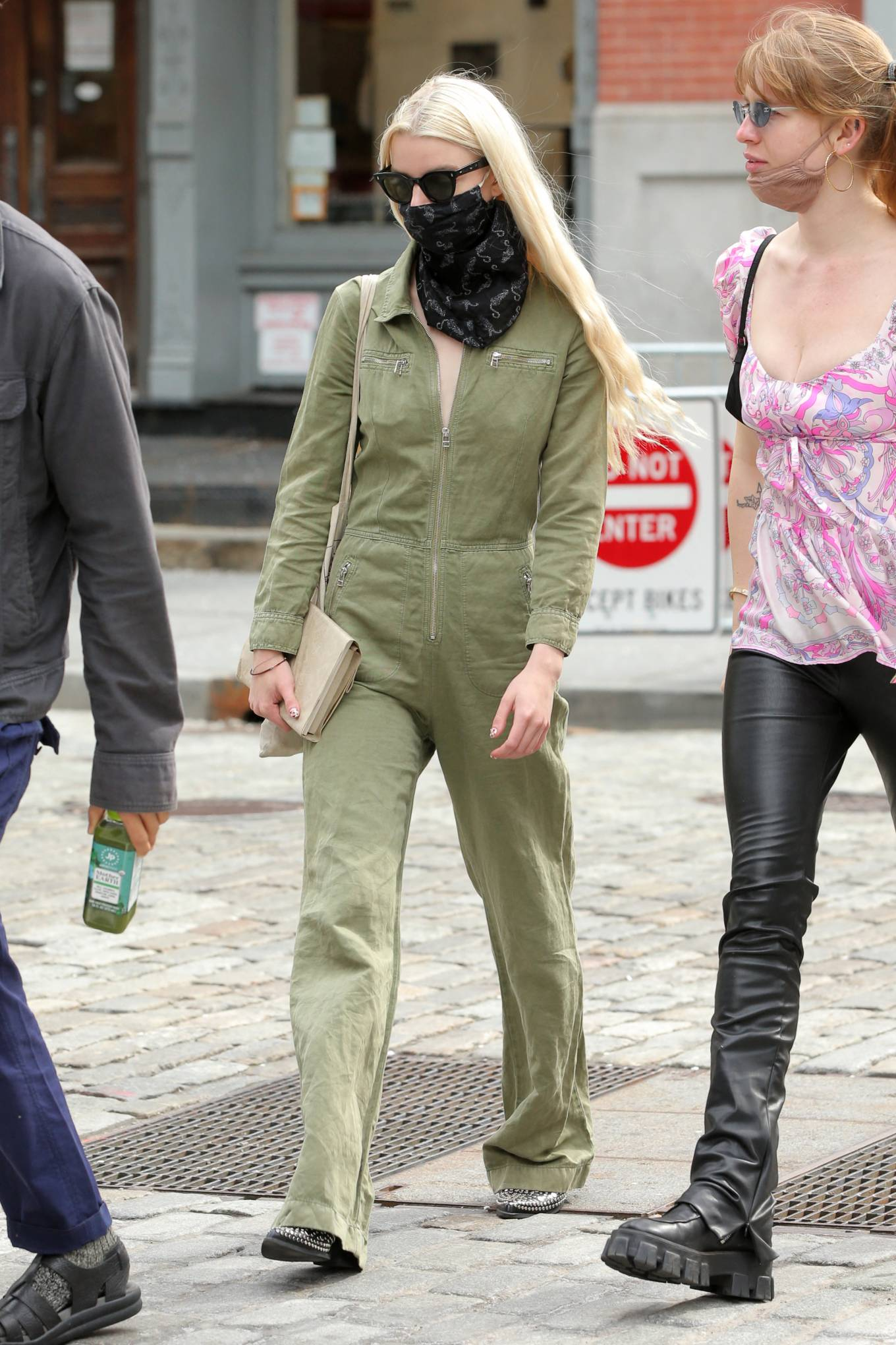 Anya Taylo 2021 : Anya Taylor-Joy – in a green jumpsuit in Soho in New York-02