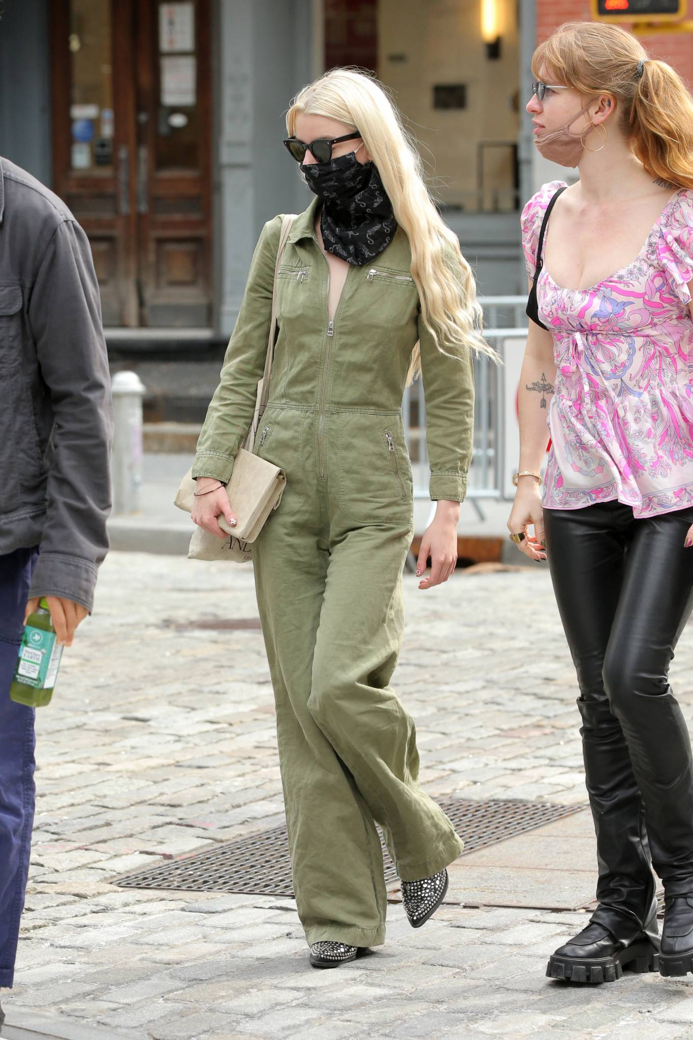 Anya Taylo 2021 : Anya Taylor-Joy – in a green jumpsuit in Soho in New York-03