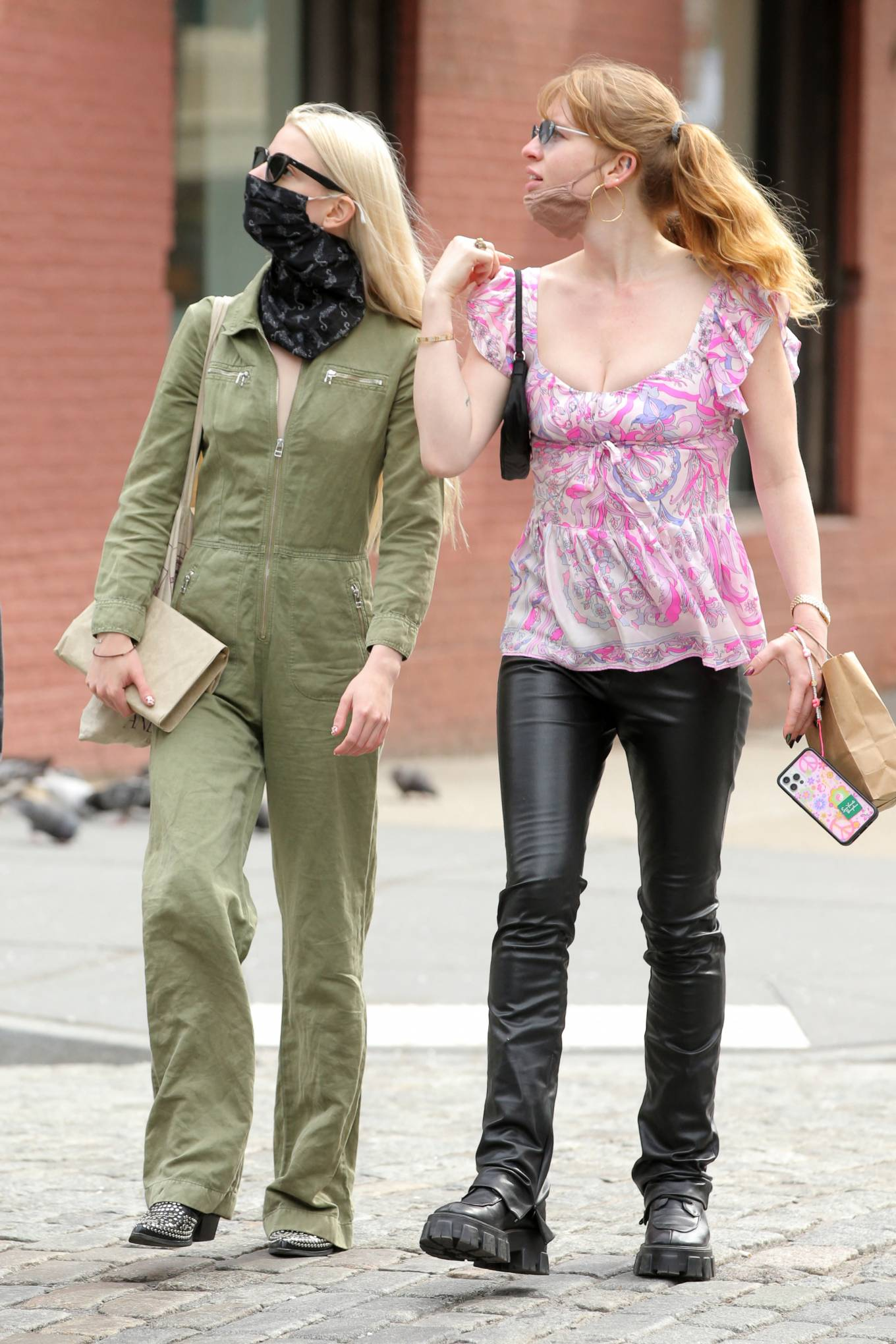 Anya Taylo 2021 : Anya Taylor-Joy – in a green jumpsuit in Soho in New York-07