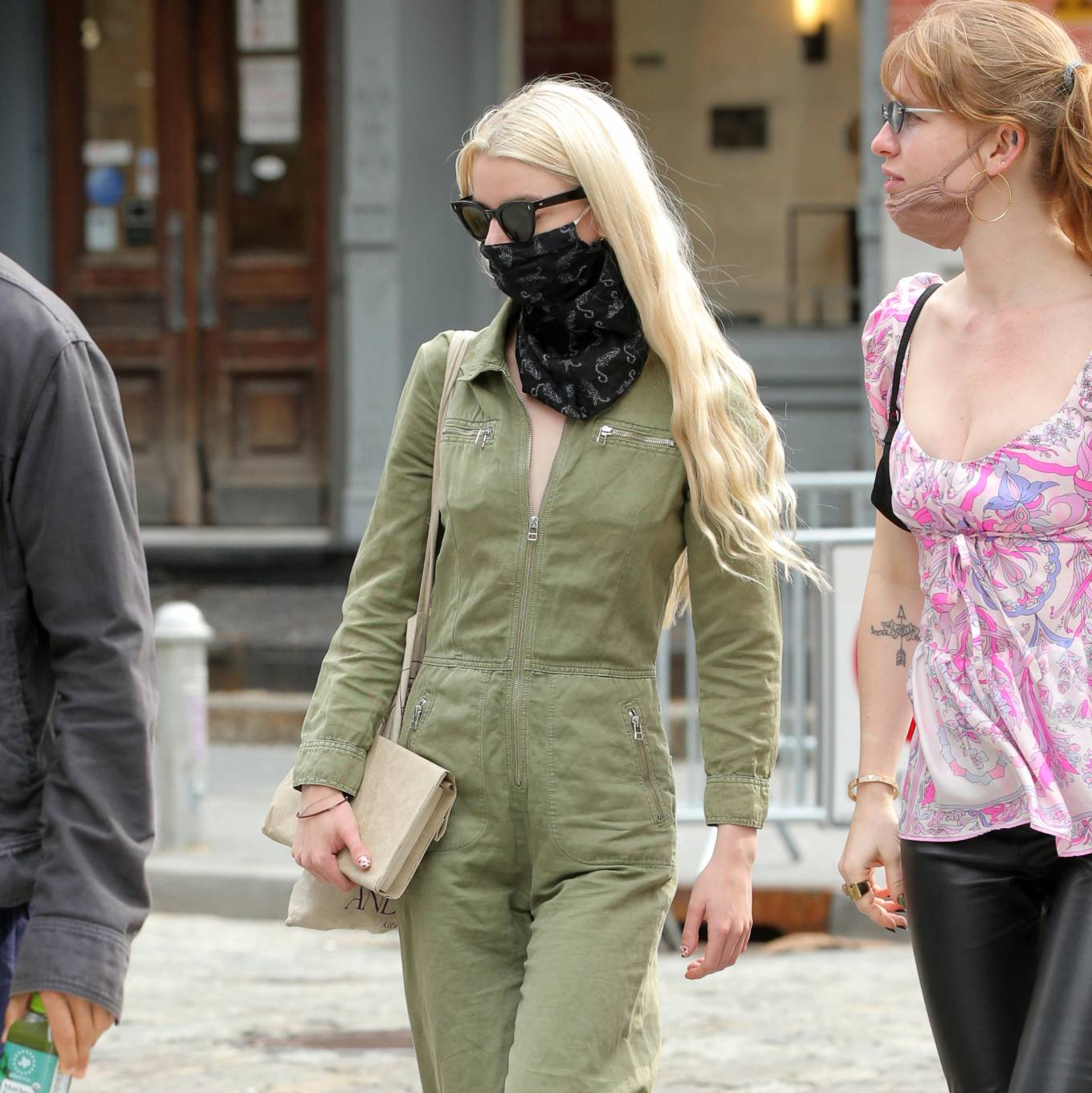 Anya Taylo 2021 : Anya Taylor-Joy – in a green jumpsuit in Soho in New York-11
