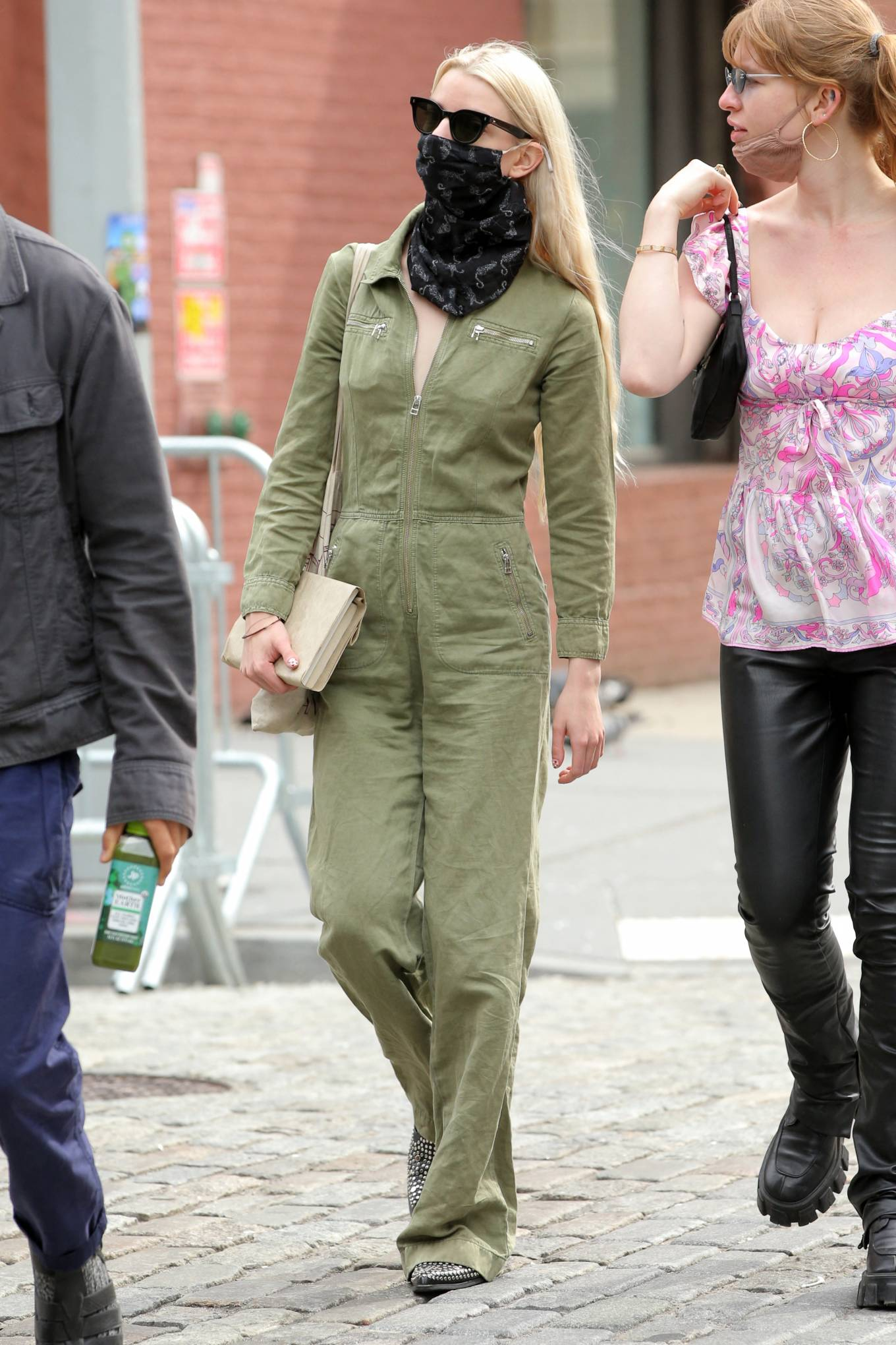 Anya Taylo 2021 : Anya Taylor-Joy – in a green jumpsuit in Soho in New York-13