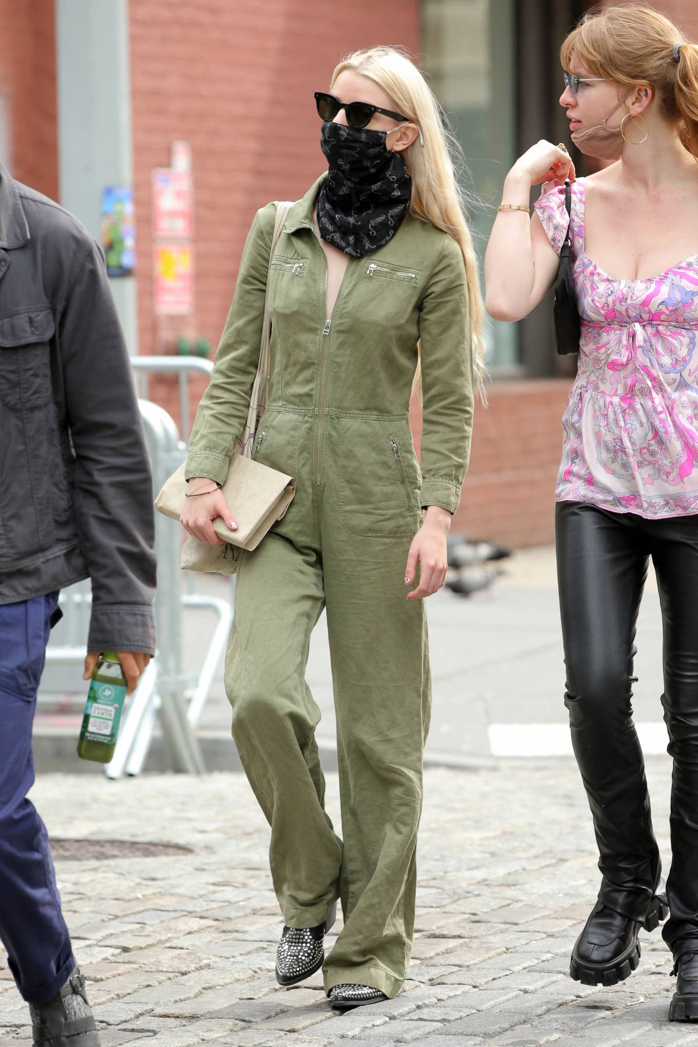 Anya Taylo 2021 : Anya Taylor-Joy – in a green jumpsuit in Soho in New York-16
