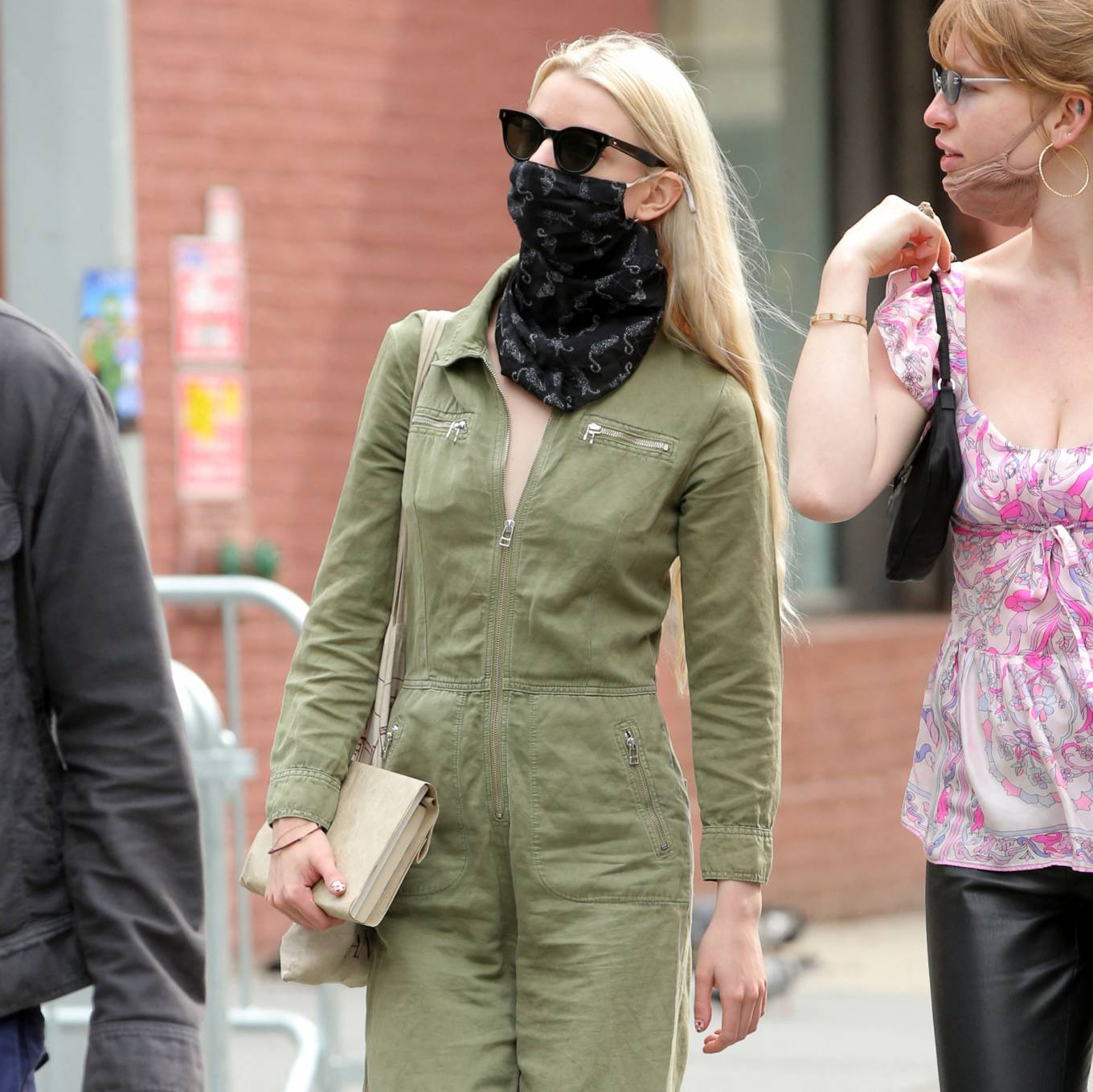 Anya Taylo 2021 : Anya Taylor-Joy – in a green jumpsuit in Soho in New York-17
