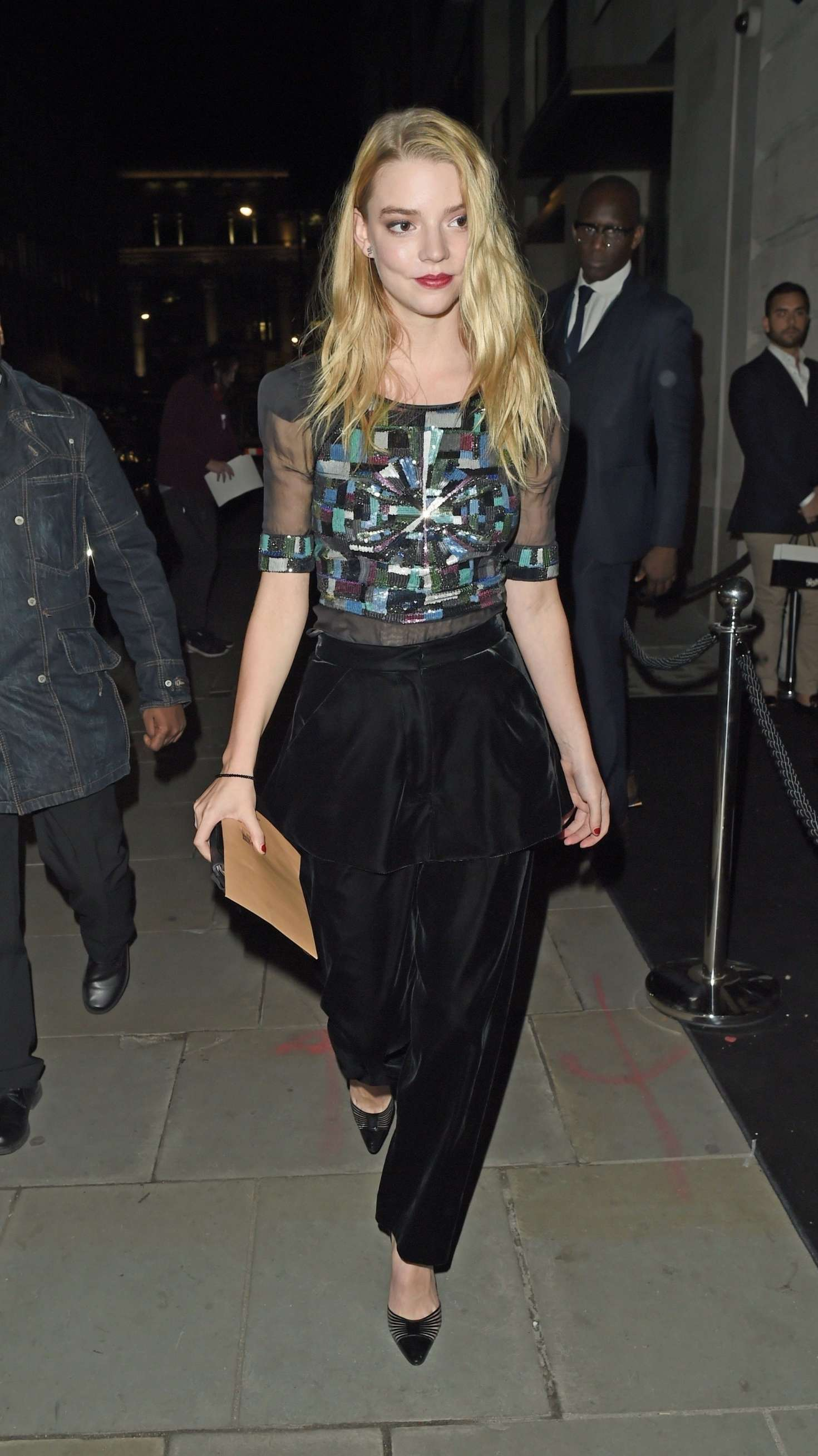 Anya Taylor-Joy - Leaving the BFI party in London