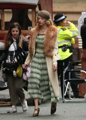 Anya Taylor-Joy - On set of 'Peaky Blinders' in Manchester