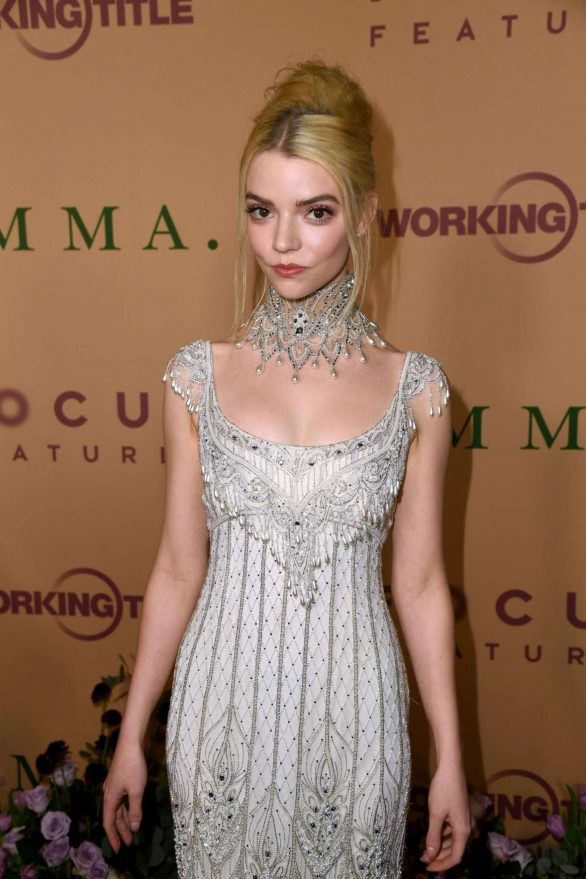 Anya Taylor-Joy - Wears long dress at 'Emma' premiere in Los Angeles