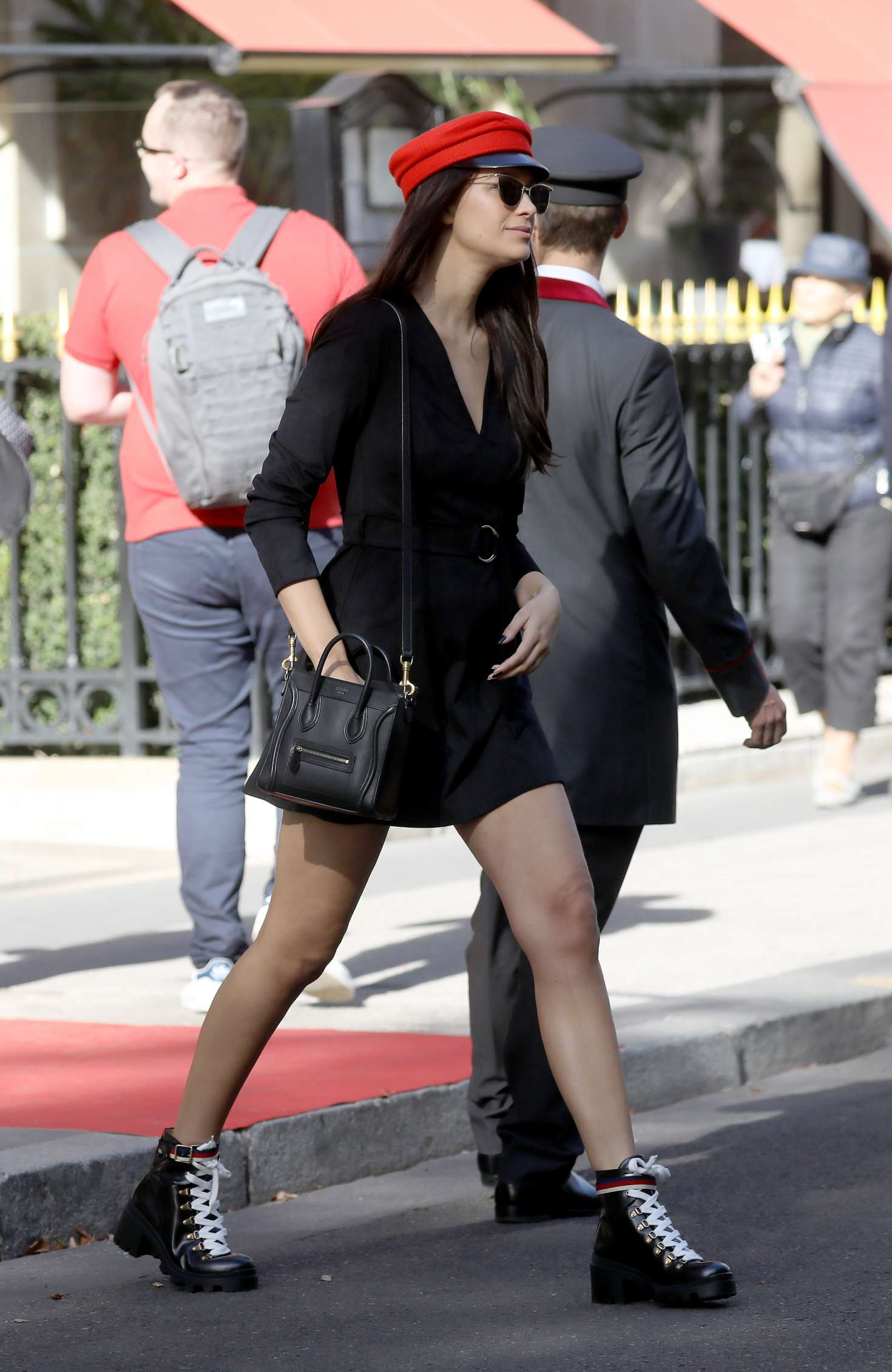 April Love Geary - Arrives at the Costes hotel in Paris