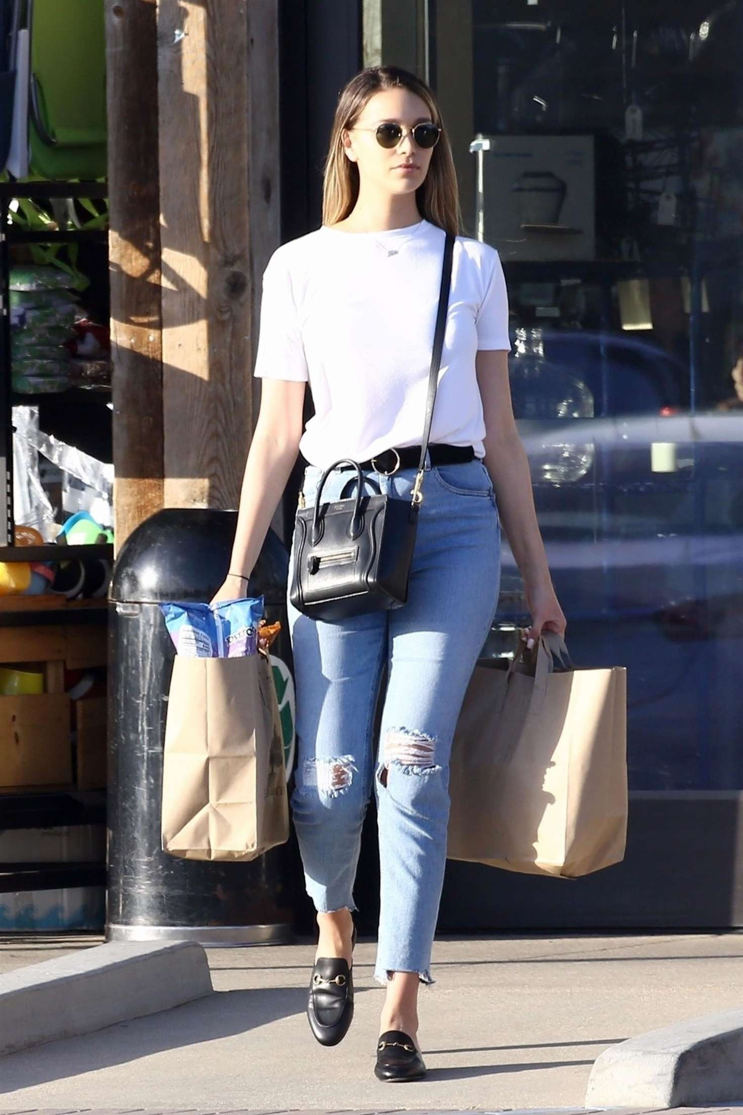 April Love Geary in Jeans out for shopping in Malibu
