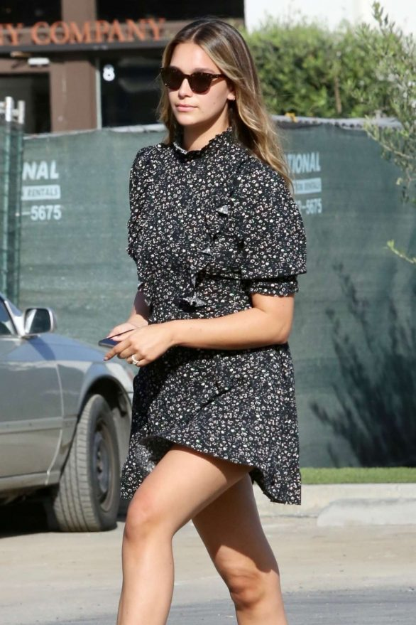 April Love Geary in Mini Dress - Shopping at the Country Mart in Malibu
