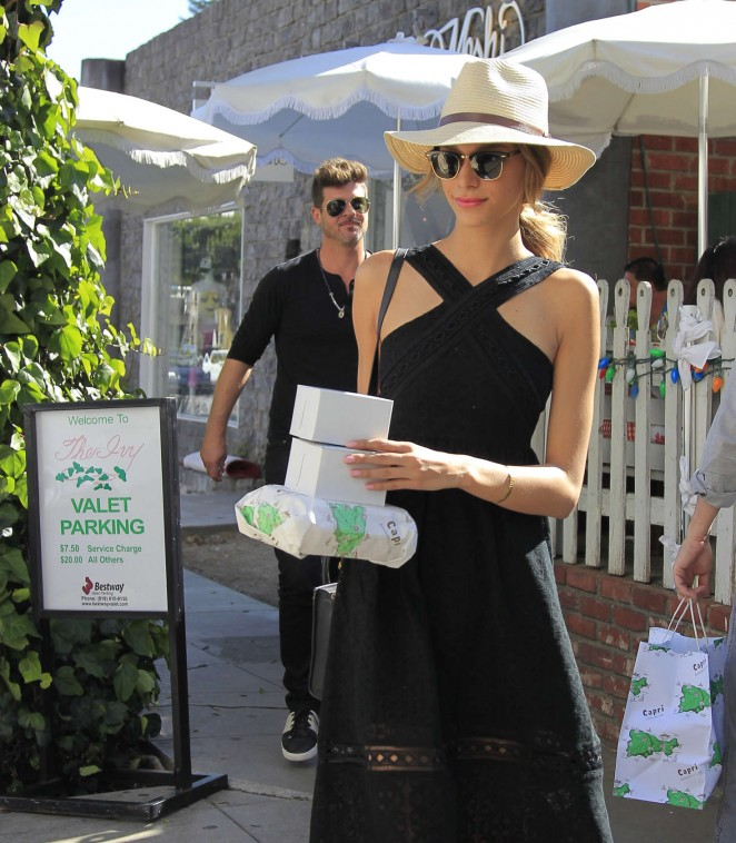 April Love Geary - Leaves The Ivy in West Hollywood