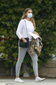 April Love Geary - Seen while she leaves urgent care in Malibu