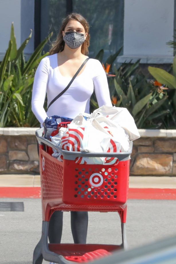 April Love Geary - Shopping at a Target for some essentials in Westlake