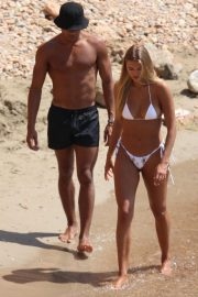 Arabella Chi and Wes Nelson - In a bikini spotted on a beach in Ibiza