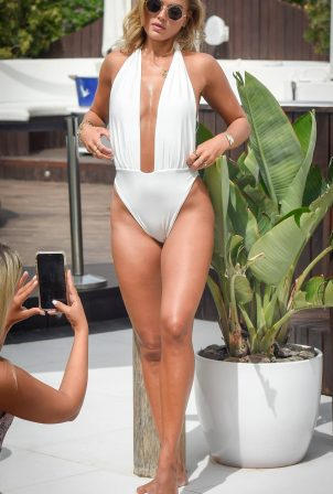 Arabella Chi - In swimwear possing for a photoshoot in Ibiza