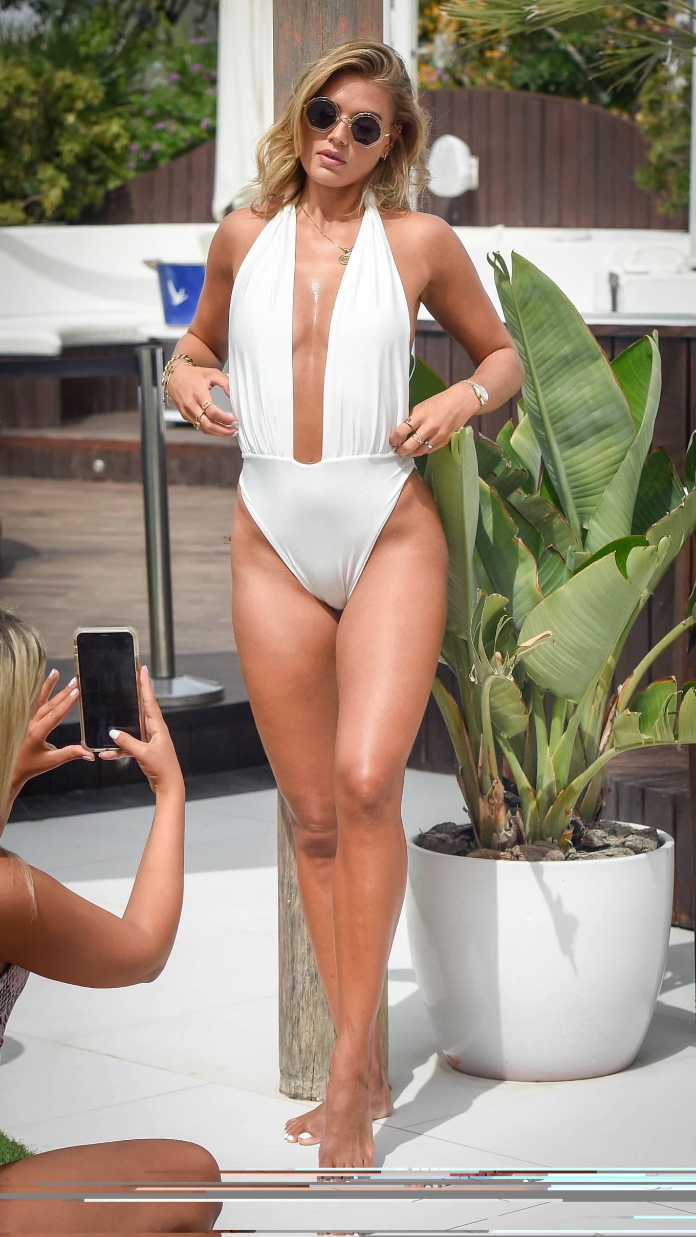 Arabella Chi - In swimwear possing for a photoshoot in Ibiza